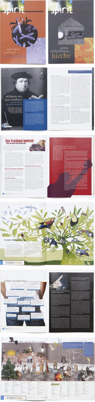 Bischoff Verlag Jugendmagazin spirit Magazingestaltung