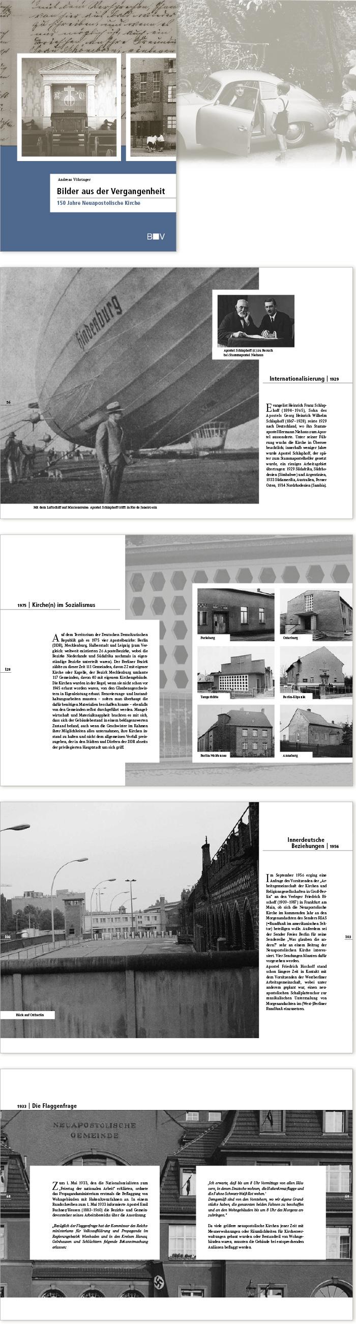 Bischoff Verlag Bilder aus der Vergangenheit Buchgestaltung