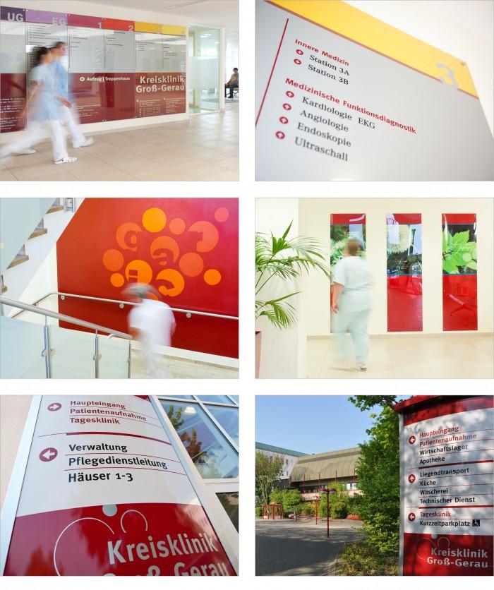 Kreisklinik Groß-Gerau Konzept und Gestaltung Leitsystem