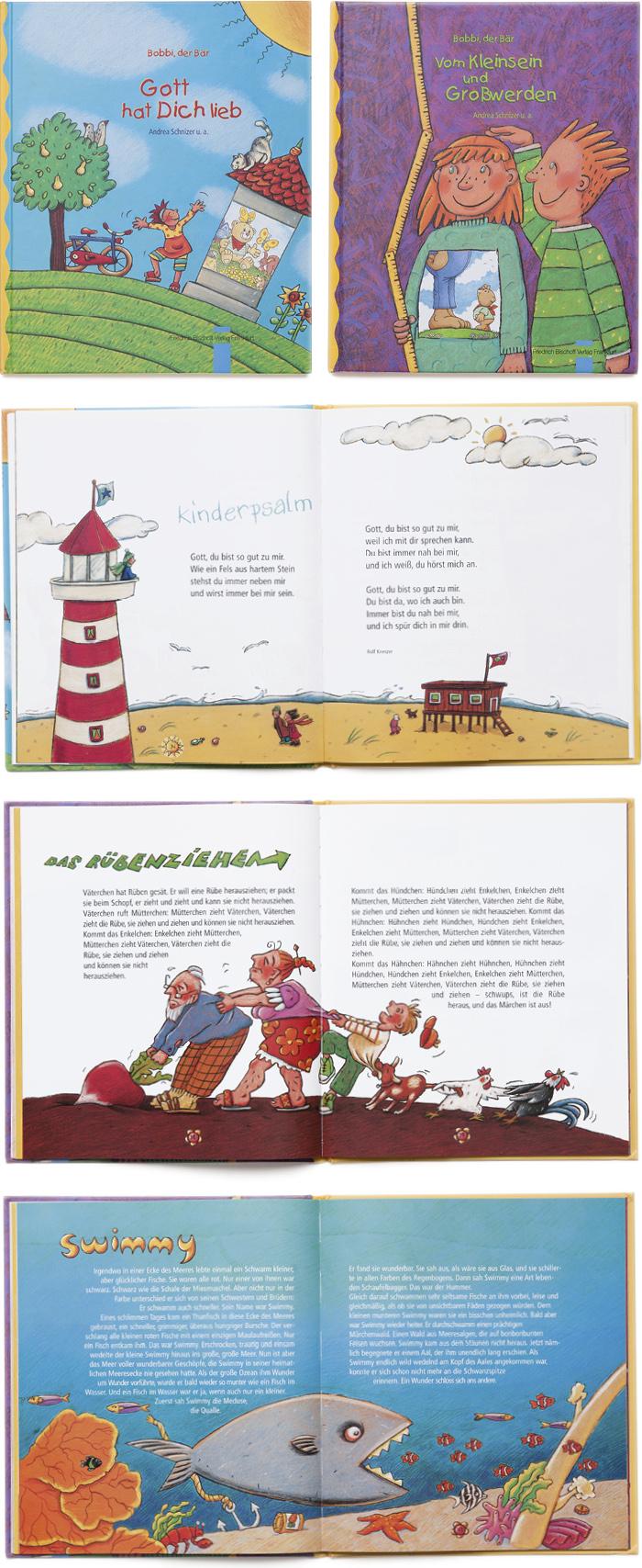 Bischoff Verlag Serie Kinderbücher Gestaltung