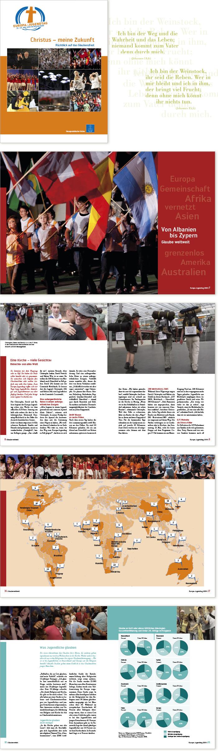 Bischoff Verlag Europa Jugendtag Broschüre Gestaltung