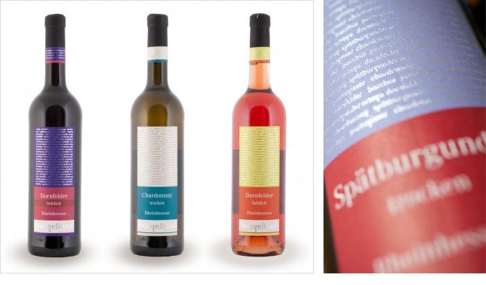 Hügelland Produktausstattung Weinetikettengestaltung Weinpreisl