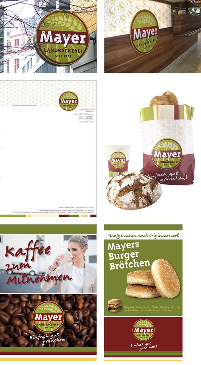 Landbäckerei Mayer Corporate Design Logogestaltung Verpackungen