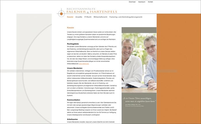 Rechtsanwälte Falkner Hartenfels Webdesign