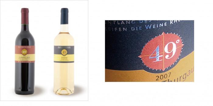 49 Grad Produktausstattung Weinetikettengestaltung Weinpreislist