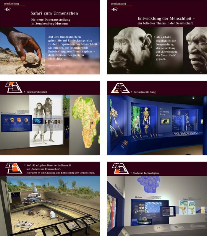 Senckenberg Ausstellung Safari zum Urmenschen Ausstellungskonzep