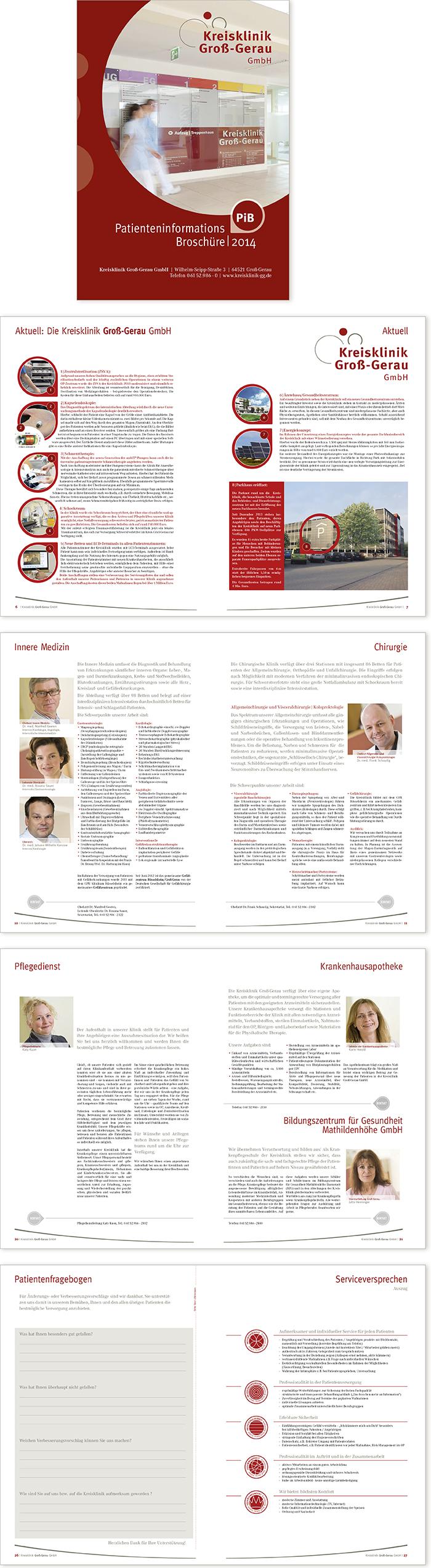 Kreisklinik Groß-Gerau  Gestaltung Patientenbroschüre