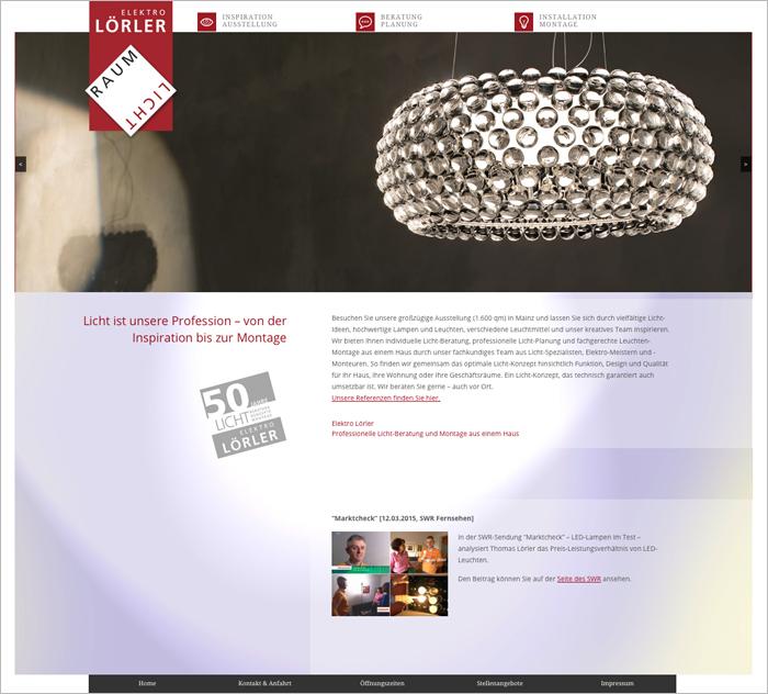 Elektro Lörler Webdesign